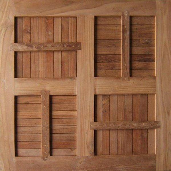 Teakholz Tischplatte Quadrat